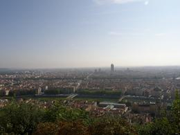 View from up on the hill beside the Basilique Notre Dame de Fourvière across Lyon., Tighthead Prop - September 2010