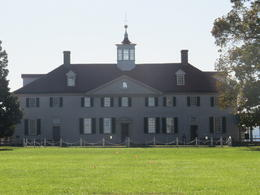 The view of George Washington's house as we walked into Mt Vernon , Merryl D - November 2014