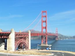 This is the Golden Gate Bridge from where the city tour stopped. , Paula - April 2013