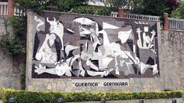 Guernica mural in Guernica , C S - October 2014
