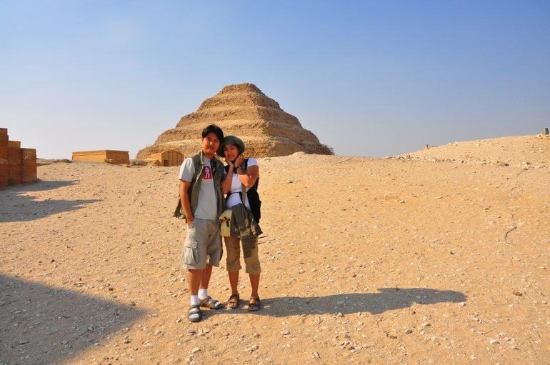 In front of the stepped pyramid at Saqqara - Cairo