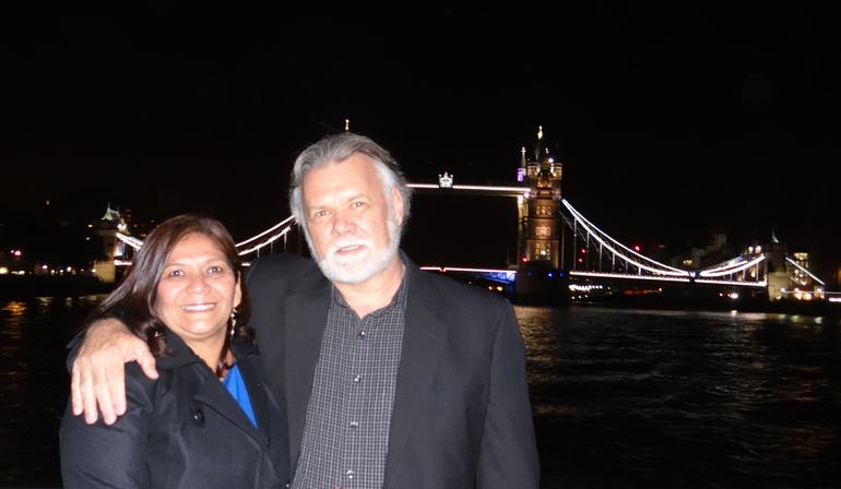 Me and hubby!!! - London