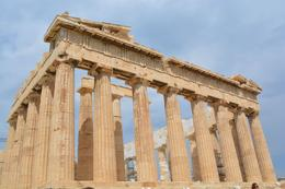 Back view of the Parthenon , sharon - August 2013