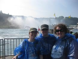 As we were heading towards the major horseshoe fall - note hair still in tact, and no hoods on yet...., Karen W - September 2010