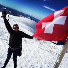Top of Europe with the Swiss flag , Blake E - November 2014