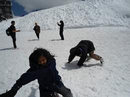 My children enjoying snow , T.R Sivaramakri R - June 2011