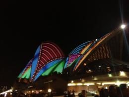 Sydney Opera House during VIVID Sydney, Cat - December 2013