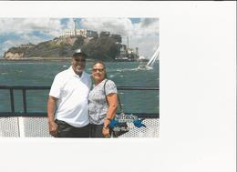 My husband and I picture of Alcatraz , Joyce T - July 2017