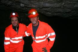 Myself and friend caving in Iceland, Georgeanne W - June 2010