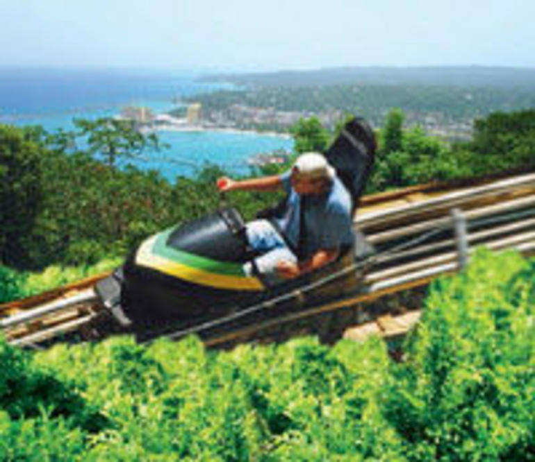 Bobsledding on Mystic Mountain - Ocho Rios