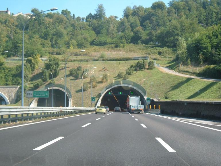 Entrance of Gotthard Tunnel - Zurich