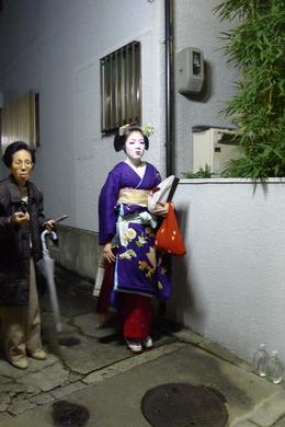 A Maiko about to go out for the night , Mrs. Ty - December 2011