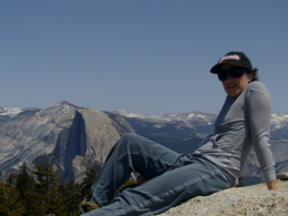 Kellythepea on Sentinel Dome with Half Dome behind me., kellythepea - October 2010