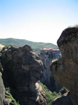 Amazing cliffs at Meteora - April 2011