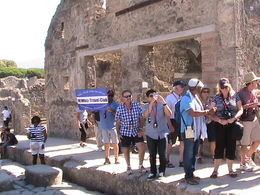 Group of travelers enjoyed their walk through the ruins of Pompeii and witnessed the history of the AD-years! , mareejulian - August 2015