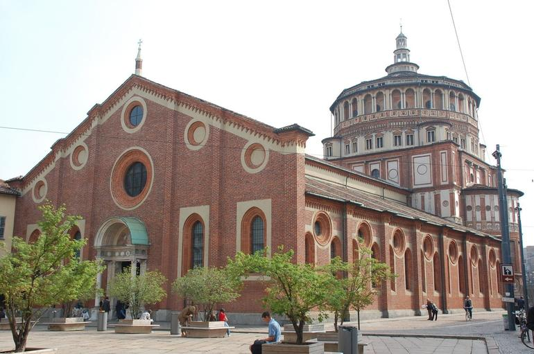 Piazza Di S Maria Delle Grazie: Place of the Last Supper painting - Milan