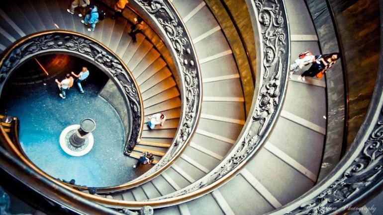 spiral stairways of Vatican Museum - Rome