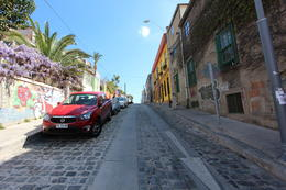 Cobblestone streets in Valparaiso, Bandit - October 2013