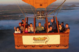 In a hot air balloon! - May 2013