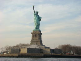 The statue of Liberty as seen from the cruise boat on the Hudson river. , Allan R - December 2012