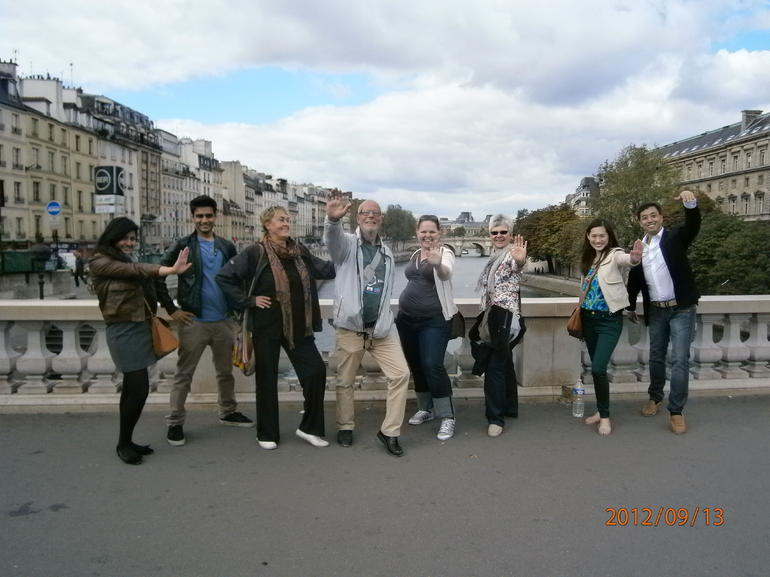 The whole group gathered - Paris