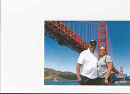 My husband Charles and I Joyce picture of Golden Gate GBridge , Joyce T - July 2017