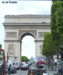 En direct du bus, l'arc de triomphe ! , jean-marie t - August 2015
