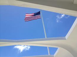 Looking up from memorial , Daniel F - July 2014