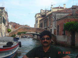 Shirish in the Grand canal in Venice , Neha M - June 2012