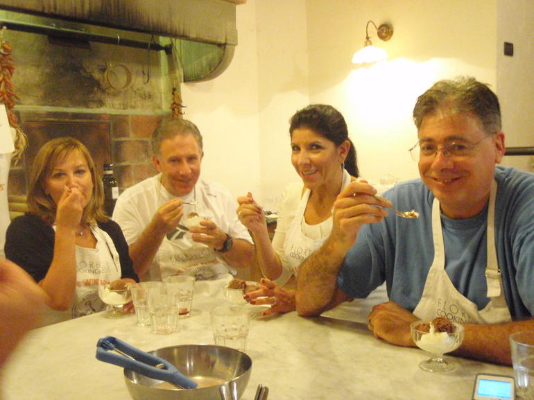 enjoying gelatto - Florence