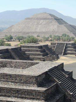 View from the top of the Pyramid of the Moon with the Pyramid of the Sun in the background. , Kevin F - May 2013