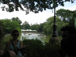 In this picture is the boat house in Central Park. Date Night was filmed here with Tina Faye and Steve Carroll. , K and A - August 2012