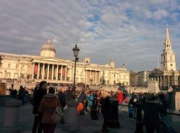 The last stop for half day tour was in Trafalgar Square. , aabusaif - December 2014