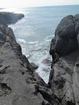 Photo from top of the cliffs looking down. , Rebecca B - April 2013