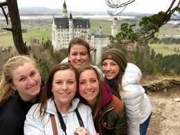 The whole group at Neuschwanstein! , Lauren G - June 2015