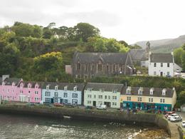 Coloured properties by Portree harbour , Nigel J L B - September 2016