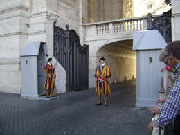 The Vatican uses Swiss Guards and has for hundreds of years because they couldn't understand the language spoken by the Pope and cardinals and helped to keep down the intrigues of the papacy. , David W - December 2014
