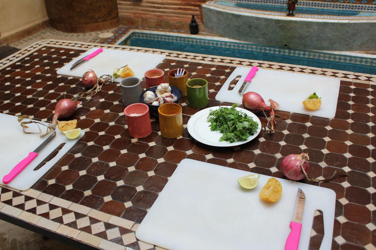 Tagine prep area - Marrakech