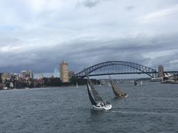 Million dollar shot from Hop-on-Hop off Harbor Sydney Cruise , Linda K - January 2017