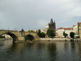 Charles bridge and tower from the Vlatva river. , Marc F - July 2015