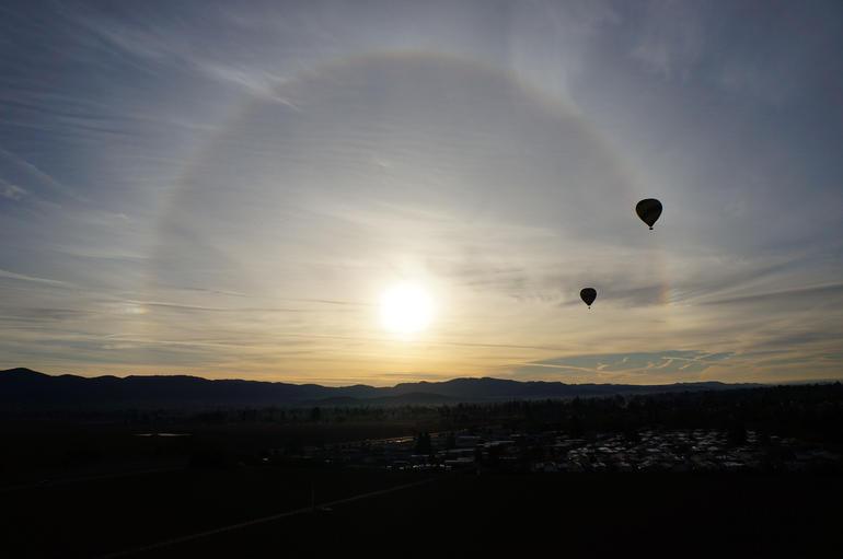 circular sun rays - Napa & Sonoma