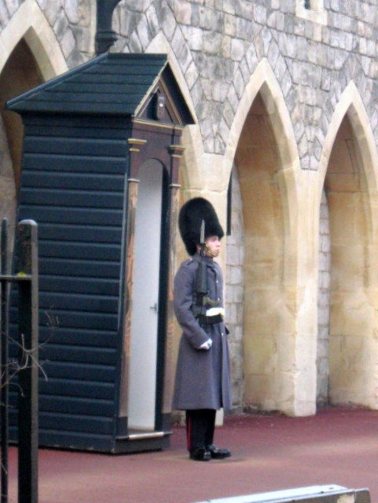 Guard near exit to Windsor Castle - London