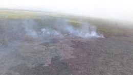 Kilauea spewing steam and smoke , Tom A - April 2015