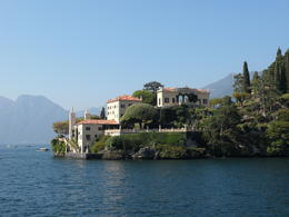 View of villas around Lake Como , Penelope J - October 2011
