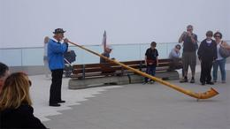 Playing the horn atop Mount Pilatus , Stewart P - August 2013