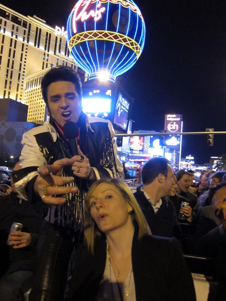 Playing it up fo the camera! - Las Vegas