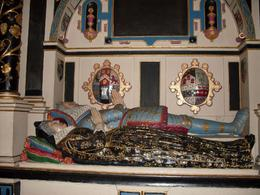 A dual burial sarcophagus, with characters portrayed in colour., Jeannette P - April 2010