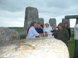 David explaining about the stones. - June 2010