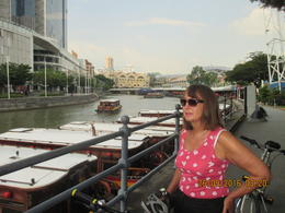 Jackie by the Singapore river , h y - October 2016