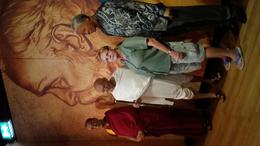 Hanging out with the Dalai Lama, Gandhi and Nelson Mandela at Mme Tussaud's , Barbara M - July 2017
